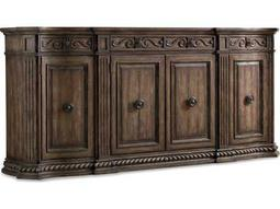 Hooker Furniture Rhapsody Rustic Walnut 96''L x 20''W Rectangular Credenza Buffet