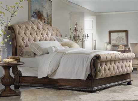 Hooker Furniture Rhapsody Upholstered Sleigh Bed Bedroom Set