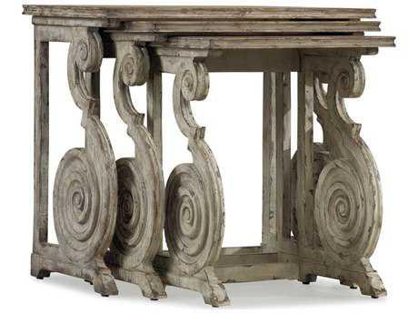 Hooker Furniture Rhapsody Walnut Rustic 26''L x 18''W Rectangular Nesting Table