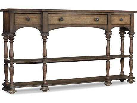 Hooker Furniture Rhapsody Walnut Rustic 64''L x 13''W Rectangular Console Table