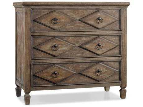 Hooker Furniture Rhapsody Rustic Walnut 38''W x 18''D x 34.25''H Diamond Accent Chest