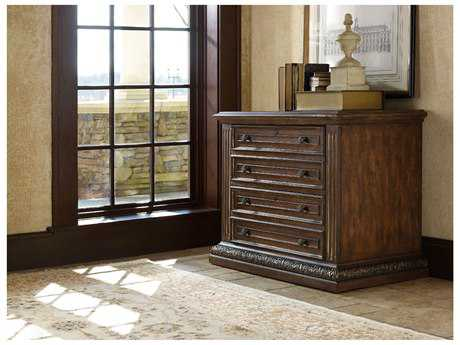Hooker Furniture Adagio Rich Dark with Gold Tipping Lateral File Cabinet