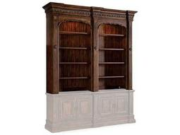 Hooker Furniture Adagio Dark Wood Double Bookcase Hutch