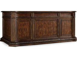 Hooker Furniture Adagio Rich Dark Brown with Gold Tipping 74''L x 40''W Rectangular Executive Desk