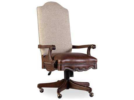 Hooker Furniture Adagio Rich Dark with Gold Tipping Executive Chair