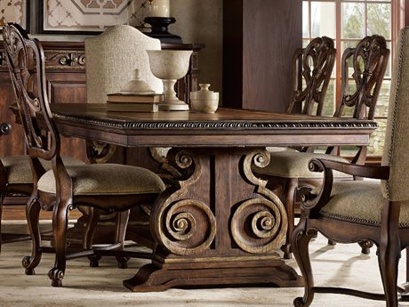 Hooker Furniture Adagio Rich Dark with Gold Tipping 88''L x 46''W Rectangular Dining Table