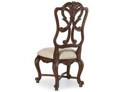 Hooker Furniture Adagio Wood Back Rich Dark with Gold tipping Dining Side Chair