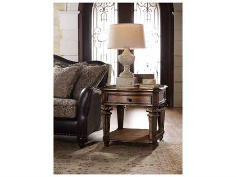 Hooker Furniture Adagio Rich Dark with Gold 32''L x 28''W Rectangular End Table