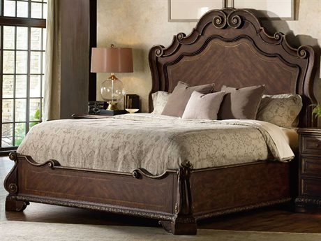 Hooker Furniture Adagio Rich Dark with Gold Tipping King Size Panel Bed
