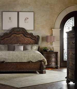 Hooker Furniture Adagio Wood Panel Bed Bedroom Set