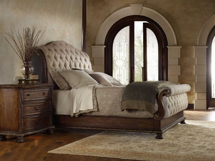 Hooker Furniture Adagio Upholstered Sleigh Bed Bedroom Set