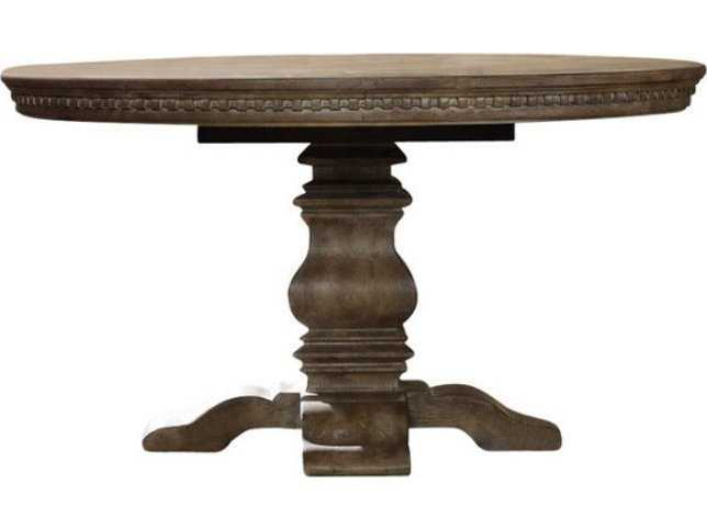 hooker furniture sorella taupe 54 39 39 wide round dining