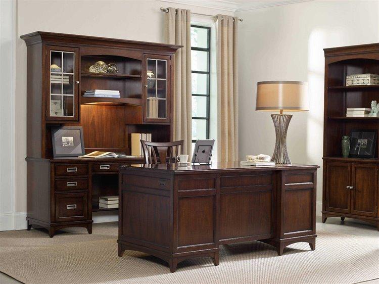 Furniture Laude Dark Wood 66 L X 32 W Rectangular Executive