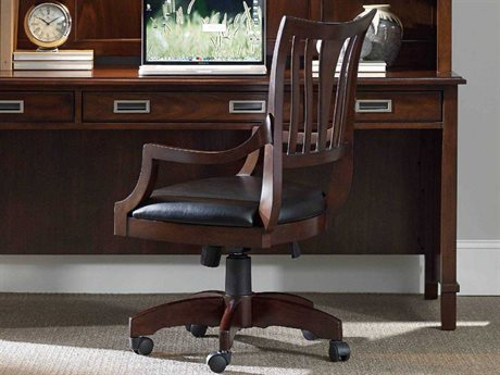 Hooker Furniture Latitude Dark Wood Executive Swivel Chair