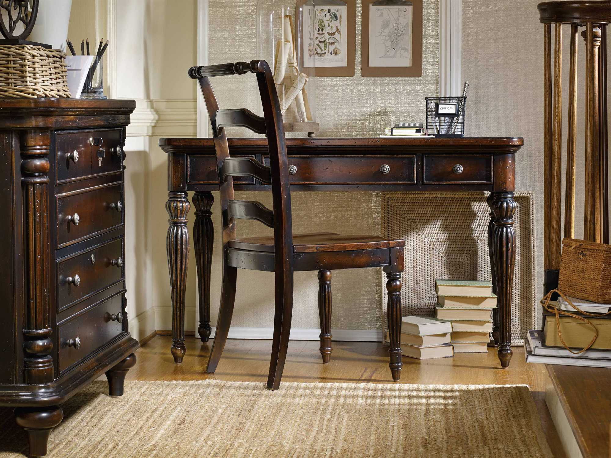 dark wood writing desk Writing desk fitted with 3 drawers for storing personal items it is completely made of wood legs are arranged conically modern design for the living room, teenager's room and more dark brown large solid wood executive home office desk.
