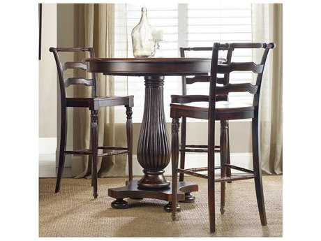 Hooker Furniture Eastridge Dark Wood 42'' Wide Round Pedestal Bar Table