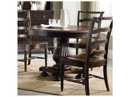 Hooker Furniture Eastridge Dark Wood 44'' Wide Round Pedestal Dining Table
