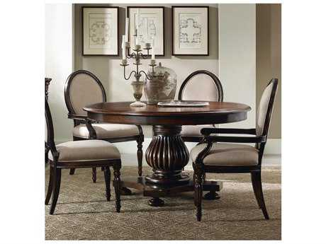 Hooker Furniture Eastridge Dark Wood 54'' Wide Round Pedestal Dining Table