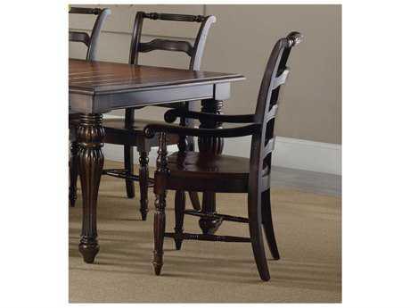 Hooker Furniture Eastridge Ladderback Dark Wood Dining Arm Chair