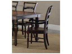 Hooker Furniture Eastridge Ladderback Dark Wood Dining Arm Chair