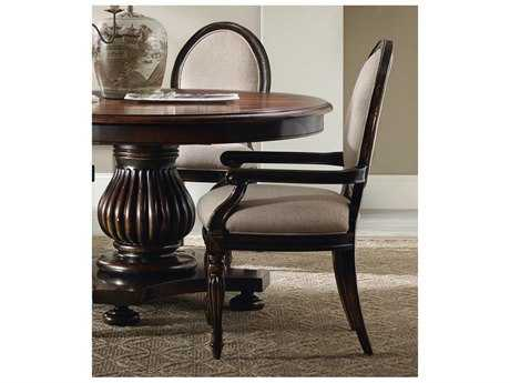 Hooker Furniture Eastridge Oval Back Dark Wood Dining Arm Chair