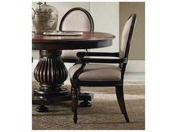 Hooker Furniture Eastridge Oval Back Dark Wood Dining Arm Chair