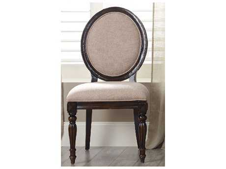 Hooker Furniture Eastridge Oval Back Dark Wood Dining Side Chair