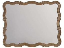 Corsica Light Wood 37''W x 47''H Rectangular Landscape Wall Mirror