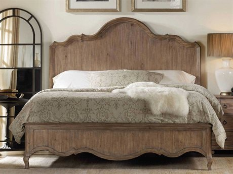 Hooker Furniture Corsica Light Wood King Size Panel Bed