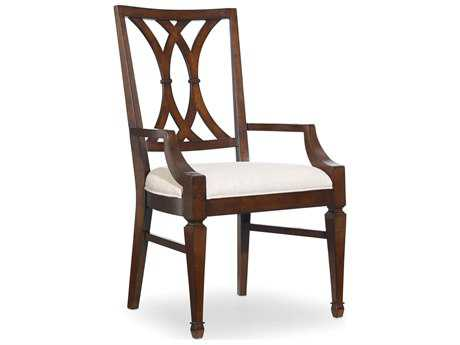 Hooker Furniture Palisade Splat Back Dark Wood Dining Arm Chair