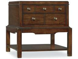 Hooker Furniture Palisade Dark Wood 24''L x 28''W Rectangular End Table