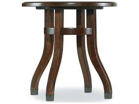 Hooker Furniture Palisade Dark Wood 24'' Wide Round End Table