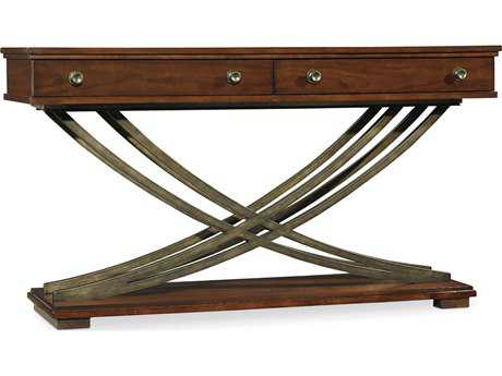 Hooker Furniture Palisade Dark Wood 54''L x 18''W Rectangular Cross-Base Console Table