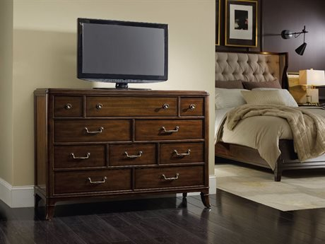 Hooker Furniture Palisade Dark Wood 54''W x 19''D Rectangular Media Chest