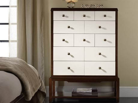 Hooker Furniture Palisade White, Cream & Beige 42''W x 18''D Rectangular Chest of Drawers