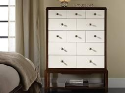 Palisade White, Cream & Beige 42''W x 18''D Rectangular Chest of Drawers