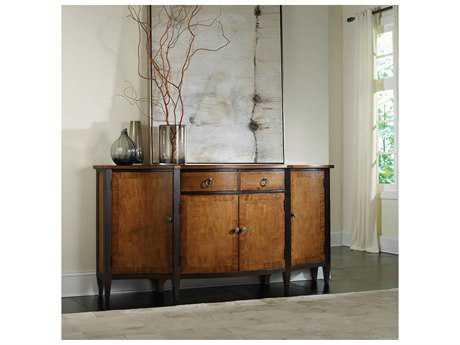 Hooker Furniture Natural Maple with Dark Espresso 76''L x 20''W Demilune Credenza Buffet