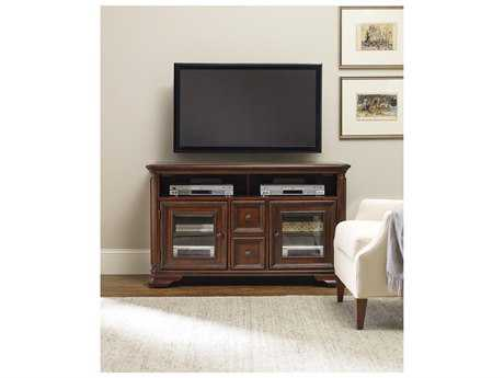 Hooker Furniture Haddon Hall Dark Wood 54''L x 20''W Rectangular Entertainment Console