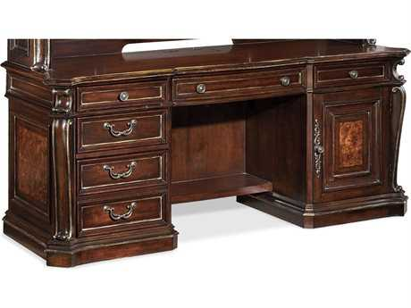 Hooker Furniture Grand Palais Dark Wood 73''L x 27''W Rectangular Computer Credenza Desk