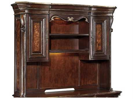 Hooker Furniture Grand Palais Dark Wood Computer Credenza Hutch