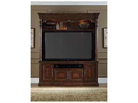 Hooker Furniture Grand Palais Dark Wood 80.75''L x 22''W Entertainment Center