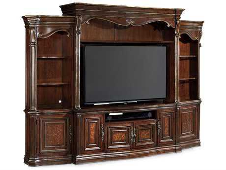 Hooker Furniture Grand Palais Dark Wood 135''L x 22''W Entertainment Center