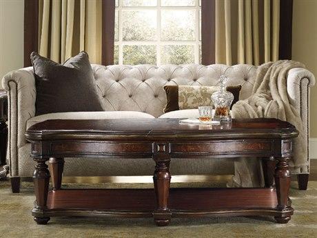 Hooker Furniture Grand Palais Dark Wood 64''L x 36''W Rectangular Cocktail Table