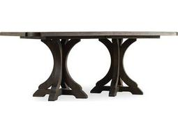 Hooker Furniture Corsica Dark Wood 78''L x 44''W Rectangular Pedestal Dining Table