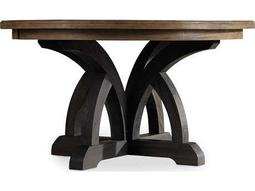 Hooker Furniture Corsica Dark Wood wiht Light Wood Top 54'' Wide Round Dining Table