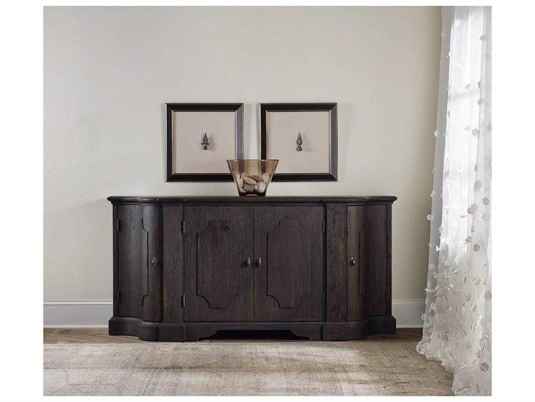 Credenza Dark Wood : Hooker furniture corsica dark wood l w demilune credenza