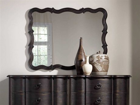 Hooker Furniture Corsica Dark Wood 37''W x 47''H Wall Mirror