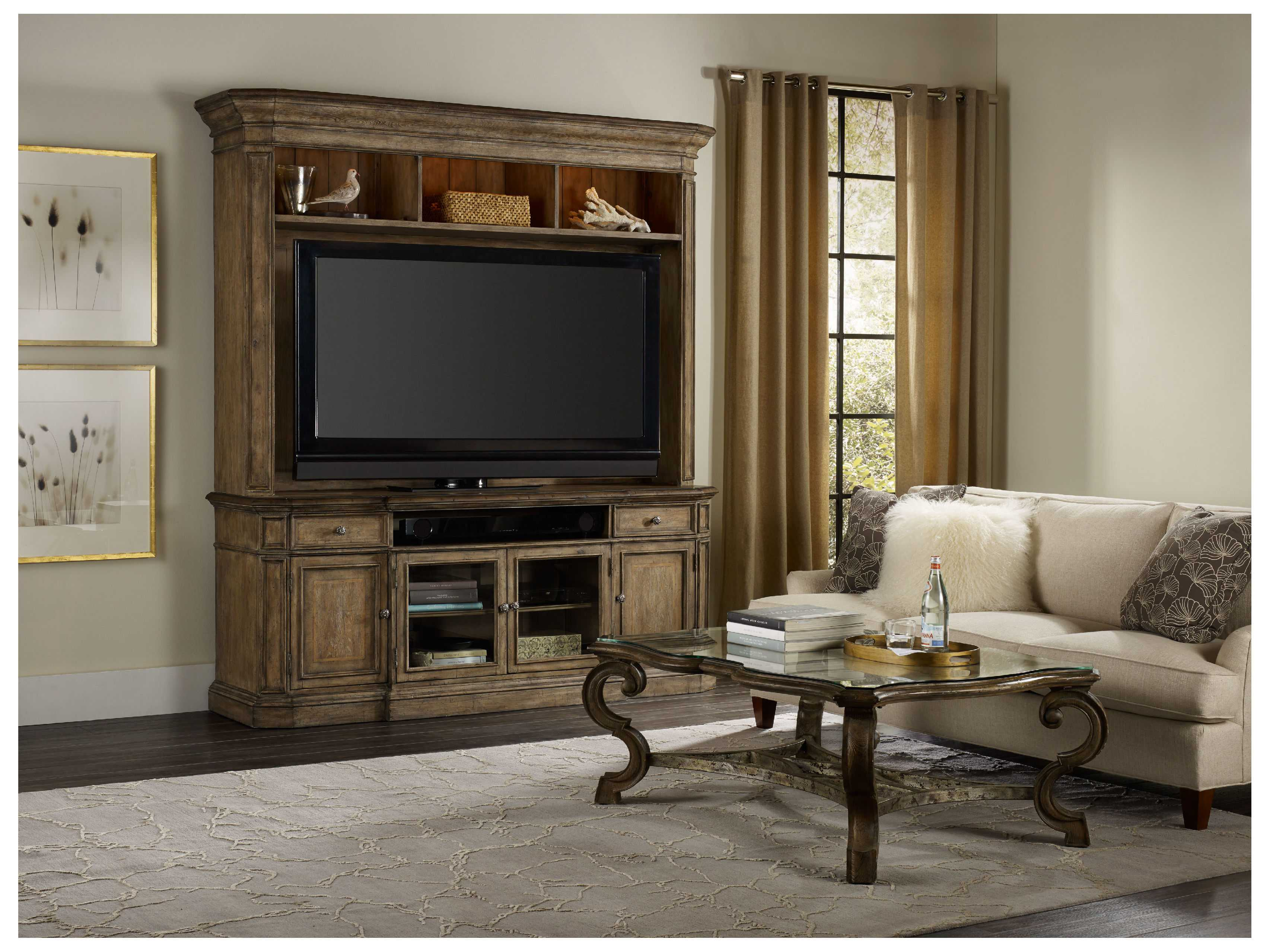 hooker furniture entertainment center. Hooker Furniture Solana Light Wood 86\u0027\u0027L X 23\u0027\u0027W Entertainment Center I