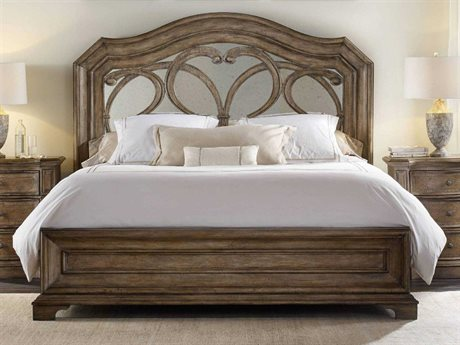 Hooker Furniture Solana Light Wood Queen Size Panel Bed