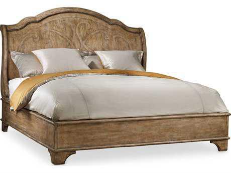 Hooker Furniture Solana Light Wood Queen Size Sleigh Bed